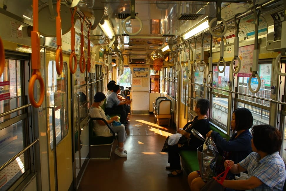WMB Travel Pro Interior_of_tram Podcast: Toden Arakawa Tramway Tokyo