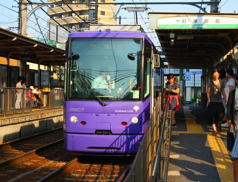 WMB Travel Pro Tram_8807_at_Machiya_Ekimae_Station Podcast: Toden Arakawa Tramway Tokyo