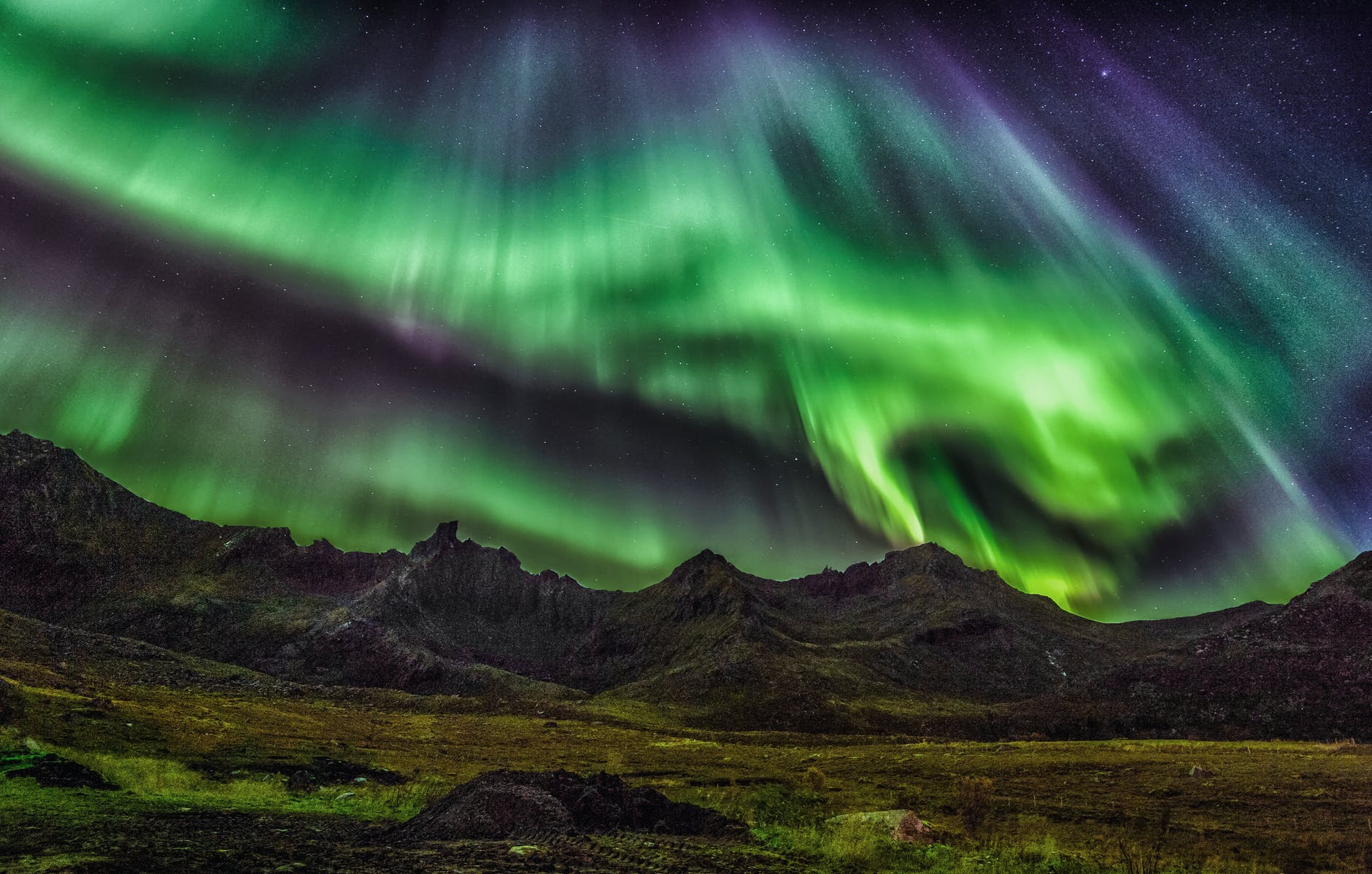 viewing northern lights